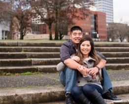 Portland Waterfront Engagement Photos